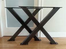 pied de table en metal table en m 233 tal x jambes pieds de table en acier 3 pieds etsy