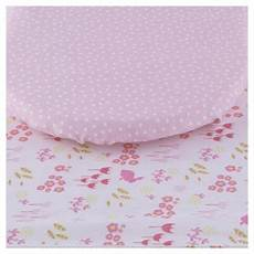 buy tesco bunny 2pk moses basket sheets from our nursery fitted sheets range tesco