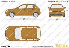 Opel Corsa C 5 Door Vector Drawing