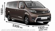 Toyota Proace Verso 2016 Dimensions Boot Space And