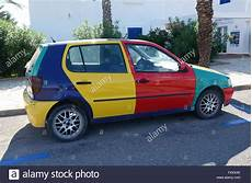 vw polo bunt multi coloured vw polo harlequin stock photo 89101894 alamy