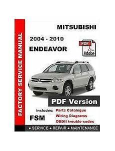 small engine maintenance and repair 2010 mitsubishi endeavor parking system mitsubishi endeavor repair manual ebay