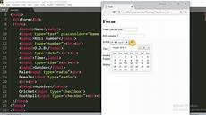 html forms select and input types html tutorials tutorials vista youtube