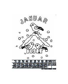 Bilder Zum Ausmalen Januar Bastelkalender F 252 R Kinder Im Kidsweb De