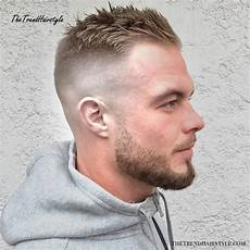 short combover with temple fade 50 haircuts and hairstyles for balding men the