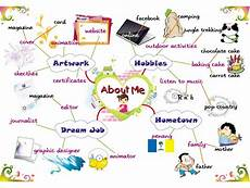 mind mapping worksheets 11580 about me students introductions leisure time activities 171 chestnut esl efl