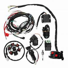 go kart gy6 wiring harness electrics wiring harness loom cdi coil for gy6 150cc atv go kart buggy alexnld