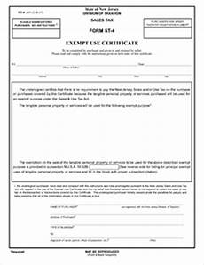 form st 4 form st 4 fillable exempt use certificate