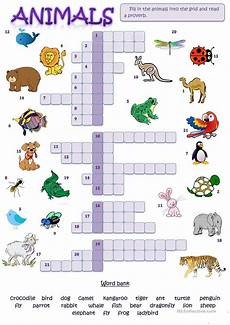 animals worksheets exercises 13776 animal picture crossword worksheet free esl printable worksheets made by teachers