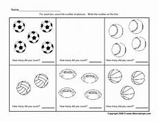 sports worksheets kindergarten 15816 counting sports balls 0 5 worksheet for pre k kindergarten lesson planet