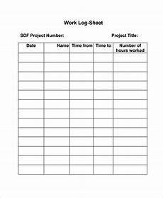 work log template 7 free word excel pdf documents
