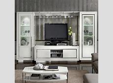 Bianca White High Gloss Large TV Wall Unit : F D Interiors Ltd