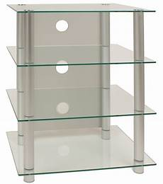 hifi rack glas vcm blados hifi rack regal tisch alu glas klarglas