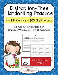 cursive handwriting worksheets with arrows 21971 print cursive handwriting practice bundle 100 sight words with arrows a simple