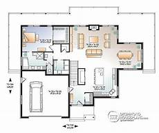 waterfront house plans with walkout basement 1st level lakefront house plan 4 bedrooms open floor