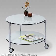18198 Tisch Beistelltisch Glastisch Glas Couchtisch Rollen