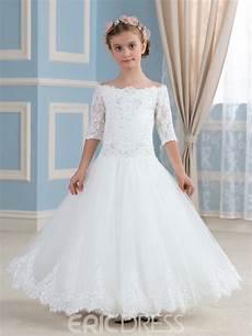 ericdress beautiful off the shoulder half sleeves flower girl dress 11557595 ericdress com