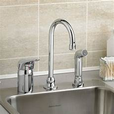 kitchen faucet with side spray monterrey single gooseneck kitchen faucet with remote valve and side spray american