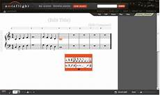 compose musical notations online and print music sheets with noteflight