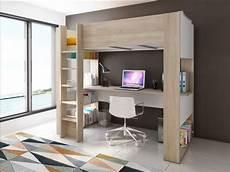 letto soppalco con scrivania letto a soppalco noah scrivania e portaoggetti 90x200cm
