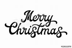 merry christmas brush lettering black letters isolated white background christmas