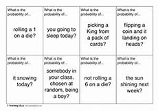 probability worksheets cards 5723 probability cards teaching ideas