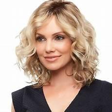 shoulder length blonde curly hair women fashion short blonde curly wigs side part wavy hair shoulder length new ebay