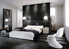 Chambre Moderne Design Blanc Gris Noir Carrelage Fauteuil