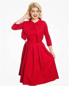 marianne red swing dress and jacket twin set vintage