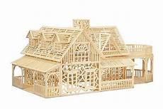 haus aus holz selber bauen matchstick kit country house mathitecture ebay