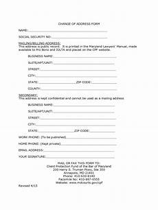 social security change of address form 5 free templates in pdf word excel download