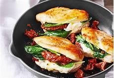 H 252 Hnerbrust Mit Spinat Mozzarella Tomaten F 252 Llung Und