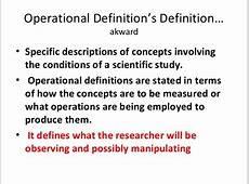 examples of operational definition