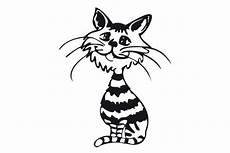 Malvorlage Gestreifte Katze Katze Grinsekatze Als Schneidedatei F 252 R Plotter