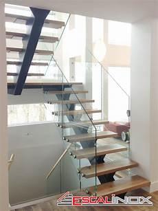 escalier limon central lapeyre escalier a limon central avec garde corps en verre tremp 233