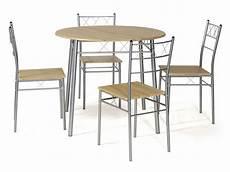 Ensemble Table Ronde Et 4 Chaises De Cuisine Lota Coloris
