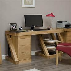 z solid oak designer furniture large office pc computer
