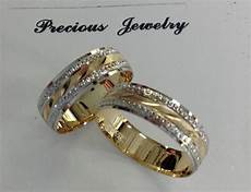 14k solid two tone gold his and wedding band ring sz 6 13 free engraving ebay
