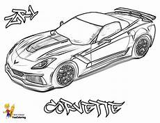 Ausmalbilder Rennauto Kostenlos Blooded Car Coloring Pages Free Corvettes Cameros