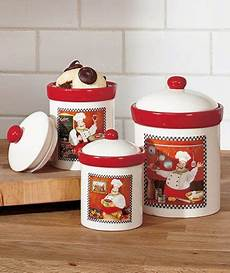 cheap kitchen canister sets details about chef canisters set italian bistro cookie