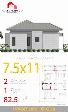 hipped roof house plans house plans 7 5x11 with 2 bedrooms hip roof house roof