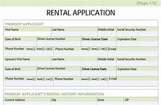 rental application forms free download and software
