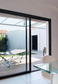 baie vitrée coulissante baie vitr 233 e coulissante sur mesure dthomas