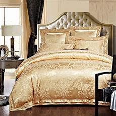 White And Gold Duvet Cover by Gold White Blue Jacquard Silk Bedding Set Luxury 4 6pcs