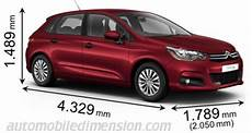 citroën c4 dimensions dimensions of citro 235 n cars showing length width and height