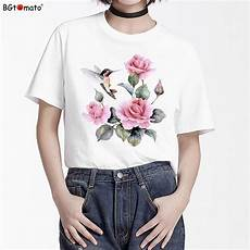 bgtomato beautiful flower and birds t shirt