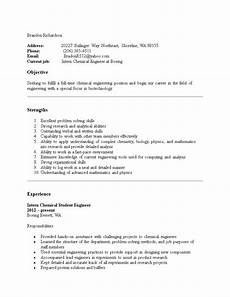 chemical engineering internship resume how to create a chemical engineering internship resume