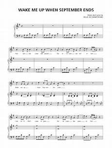 sheet music for sale green day wake me up when september ends