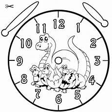 Malvorlage Uhr Lernen Kostenlose Malvorlage Uhrzeit Lernen Ausmalbild Dinos Zum