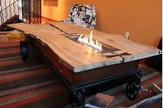 Fireplace Coffee Table made coffee table fireplace industrial cart by